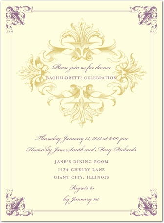 Bachelorette Party Formal Invitation
