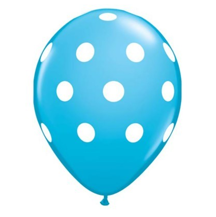 robin egg blue polka dot balloon