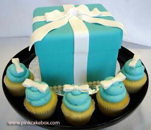 Tiffany Blue Cake