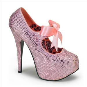 Pink Sparkle Bordello Stiletto