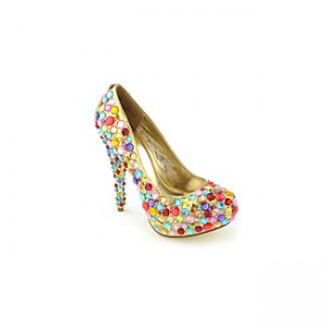 bubble gum sparkle stiletto