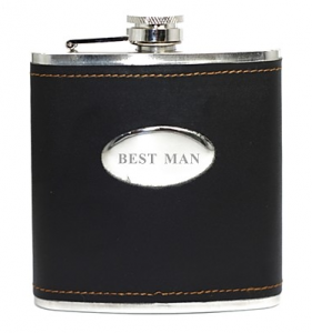 Best Man Black Flask