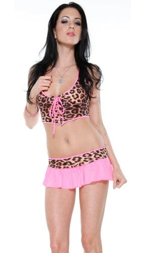 Pink Leopard Lingerie